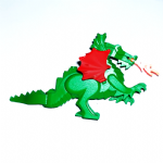 Lego Dragon green complete assembly with wings and fire 1993-